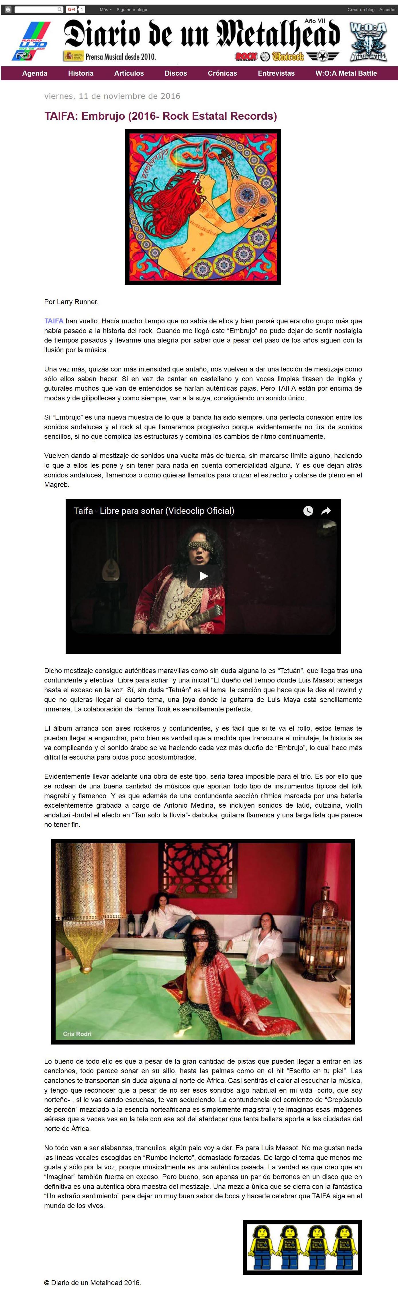Diario metalhead rese§a